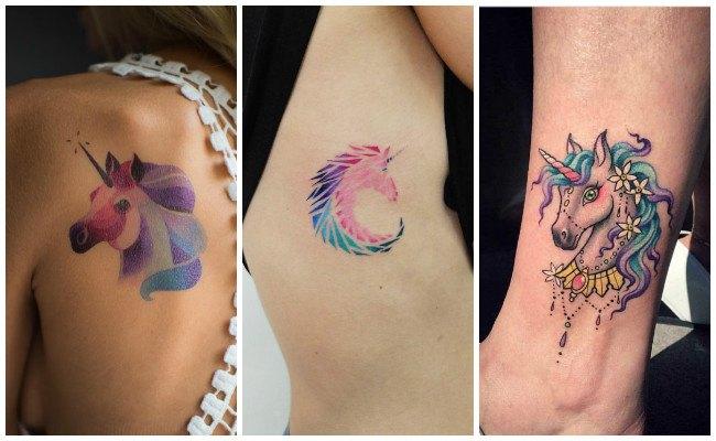 Tatuajes de unicornios para mujeres