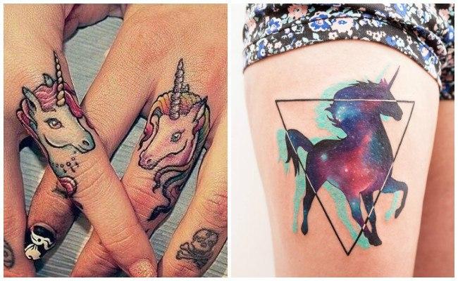 Tatuajes de unicornios pegasos