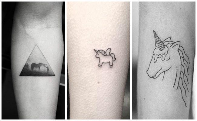 Tatuajes de unicornios pequeños