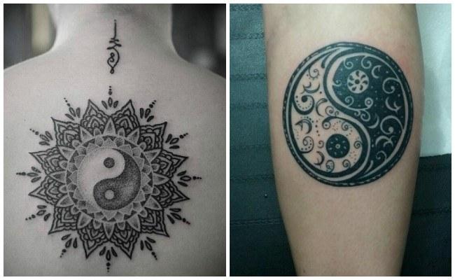 Tatuajes de yin yang en el brazo