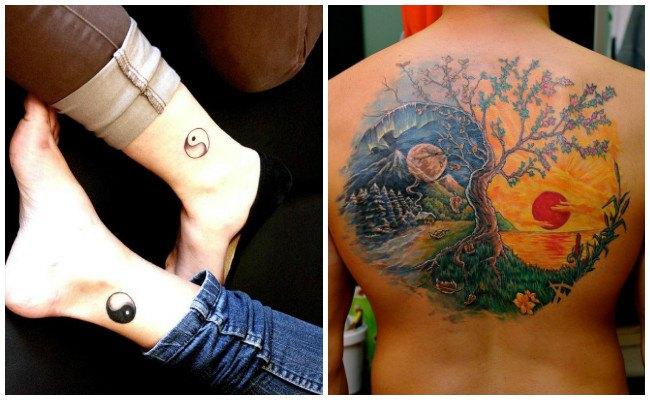 Tatuajes de yin yang en mandala