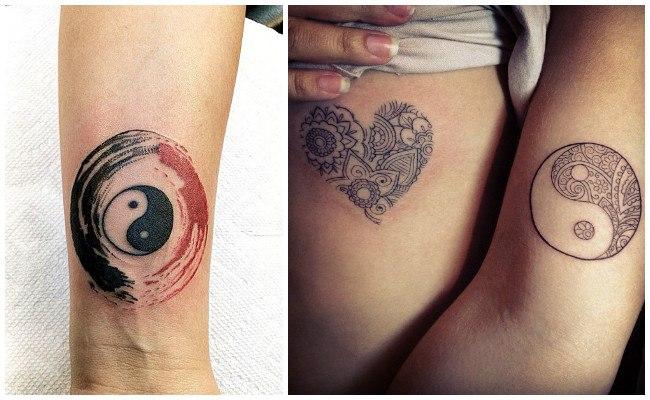 Tatuajes de yin yang para hombre