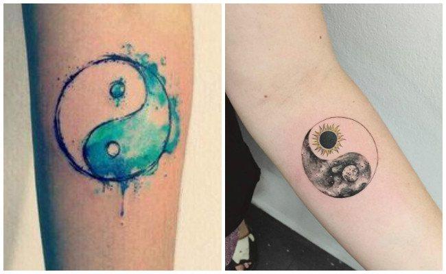 Tatuajes de yin yang para hombres
