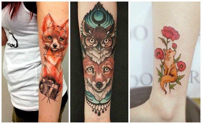 Tatuajes de zorros con letras