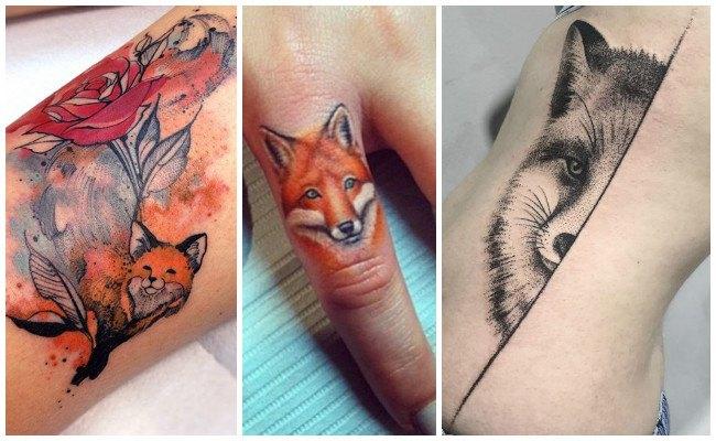 Tatuajes de zorros en el dedo