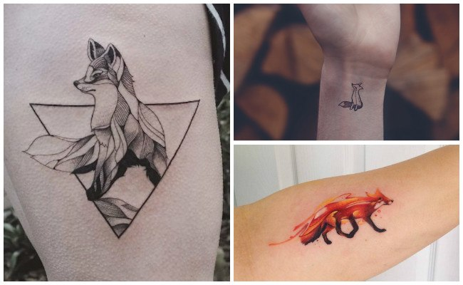 Tatuajes de zorros femeninos