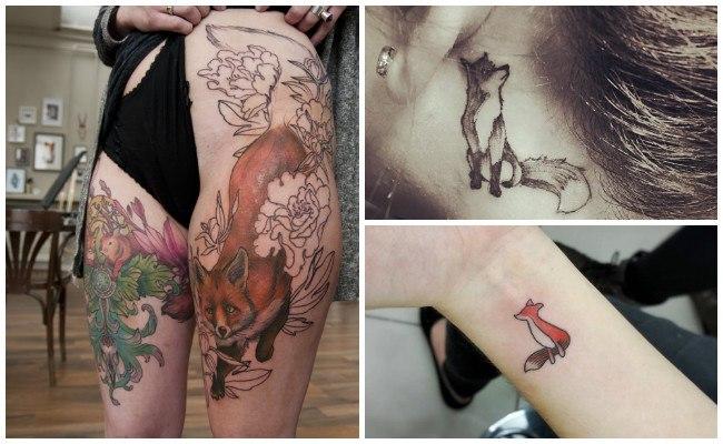 Tatuajes de zorros en el hombro