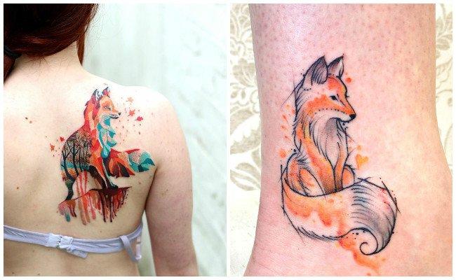 Tatuajes de zorros para mujeres