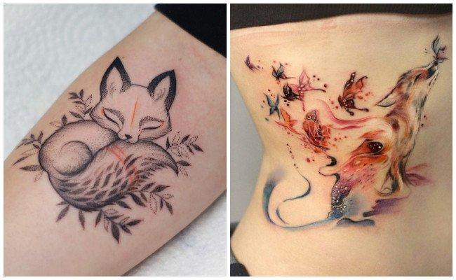 Tatuajes de zorros realistas