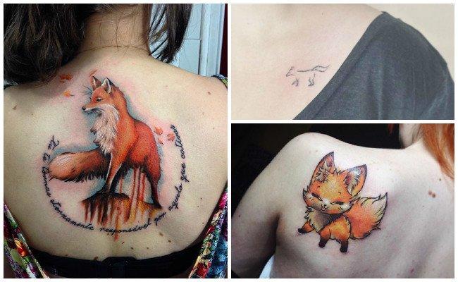 Tatuajes de zorros tribales