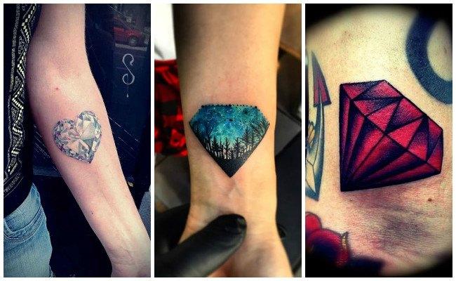 Tatuajes de diamantes con alas