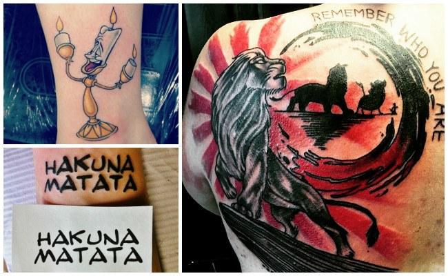 Tatuajes de dibujos de disney