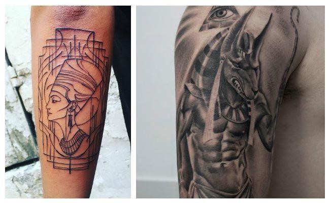 tatuajes egipcios Anubis