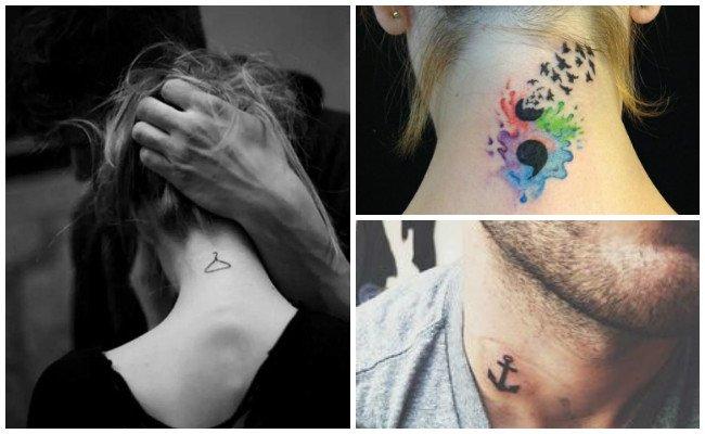 Tatuajes en el cuello con fotos