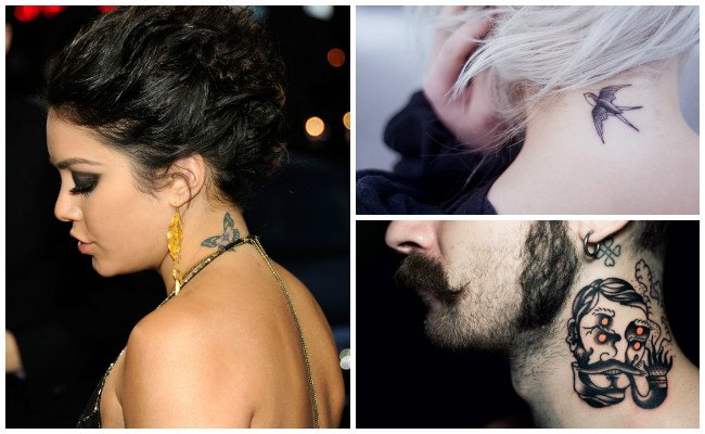 Tatuajes en el cuello con frases