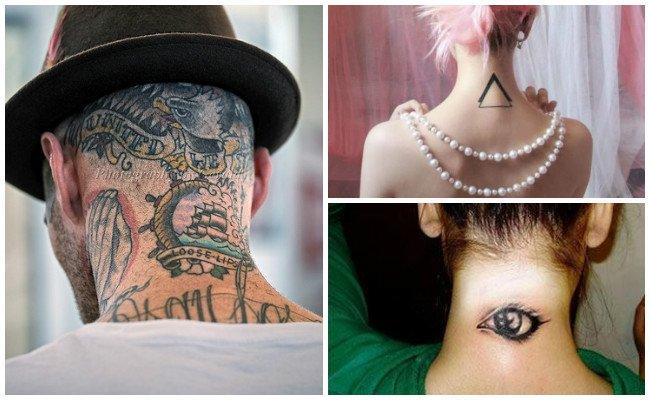 Tatuajes en el cuello con rosas