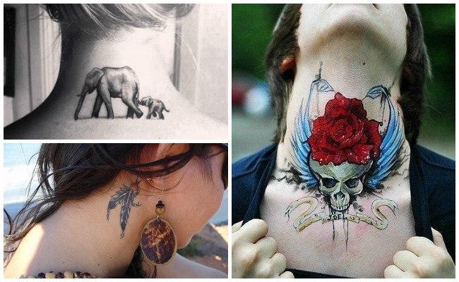 Tatuajes en el cuello con tribales