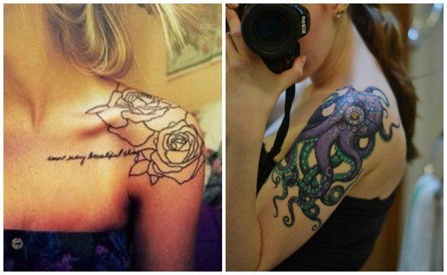 Tatuajes en el hombro 3d