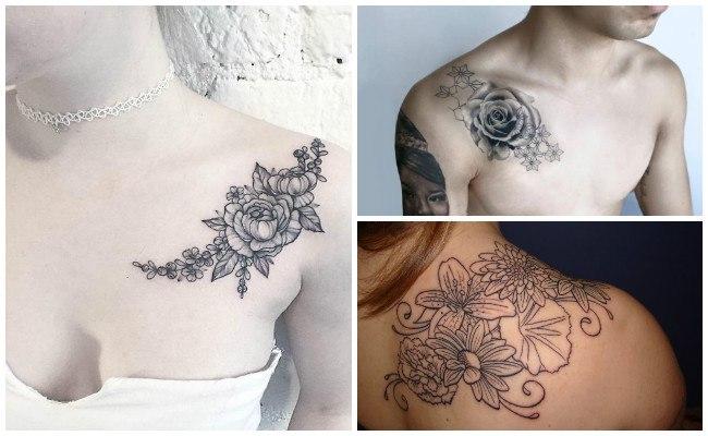 Tatuajes en el hombro aztecas