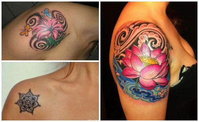 Tatuajes en el hombro con calaveras