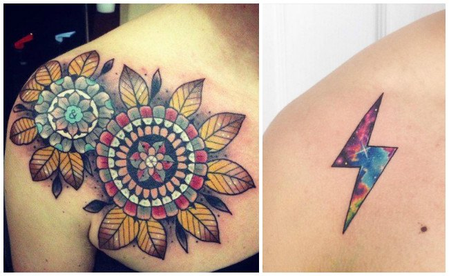 Tatuajes en el hombro para chica