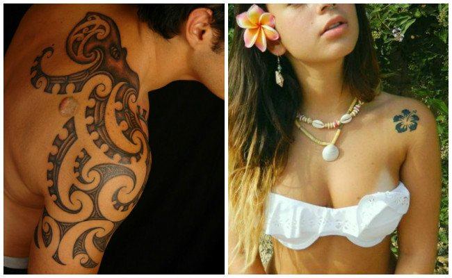 Tatuajes en el hombro con enredaderas