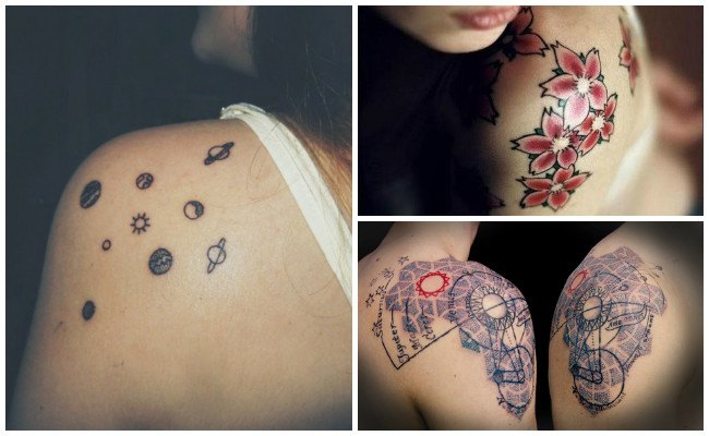 Tatuajes en el hombro femeninos