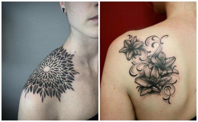 Tatuajes en el hombro con gaviotas