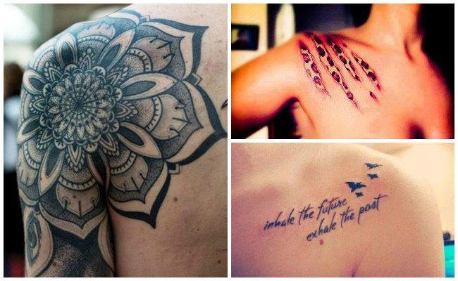 Tatuajes en el hombro del hombre