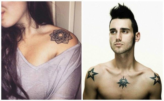 Tatuajes en el hombro y pecho