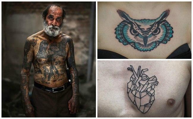 Tatuajes en el pecho 3d