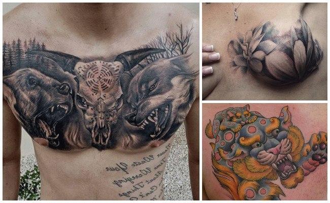 Tatuajes en el pecho a color