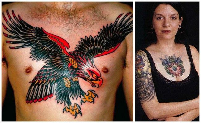 Tatuajes en el pecho de apellidos