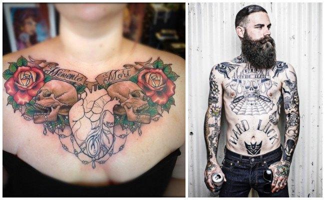Tatuajes en el pecho aztecas