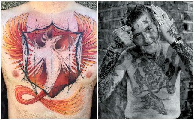 Tatuajes en el pecho de hombre