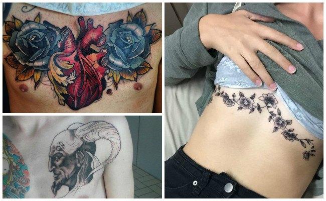 Tatuajes en el pecho de letras