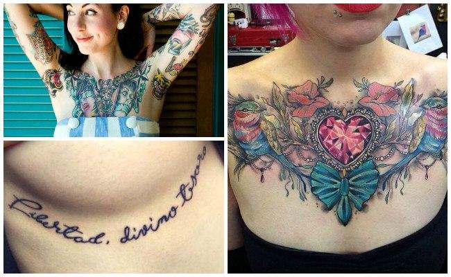 Tatuajes en el pecho de mandalas