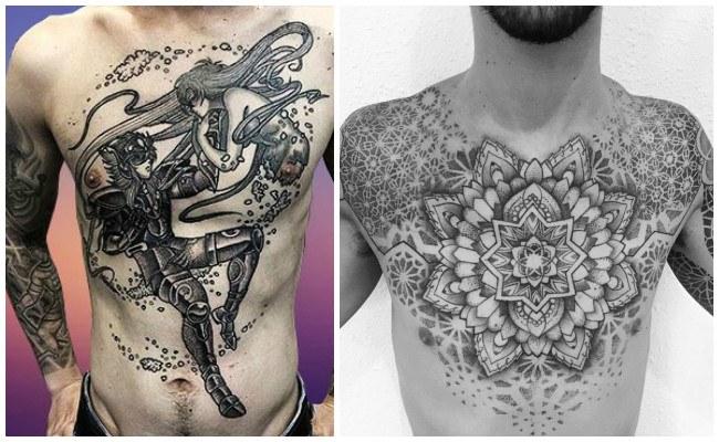 Tatuajes en el pecho de simbolos