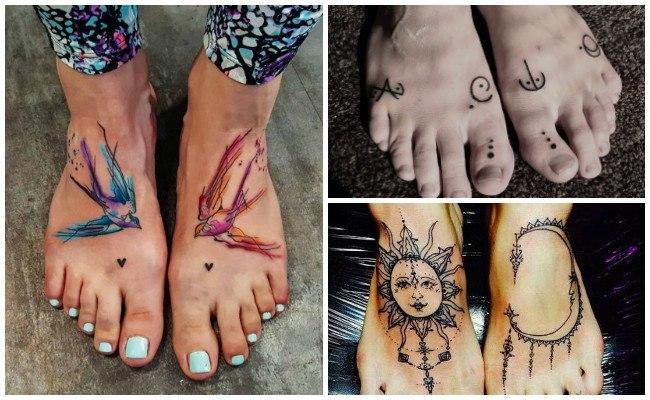 Tatuajes en el pie con alas