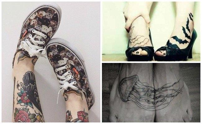 Tatuajes en el pie con flores