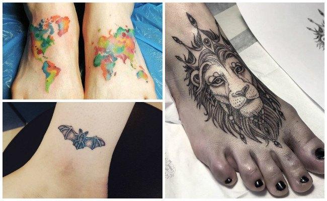 Tatuajes en el pie de hombre