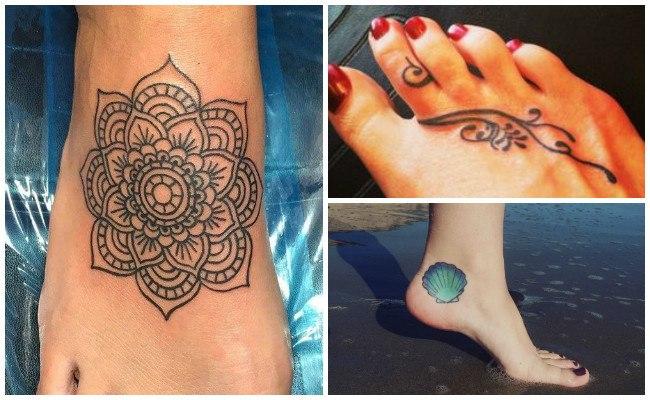 Tatuajes en el pie para mujeres