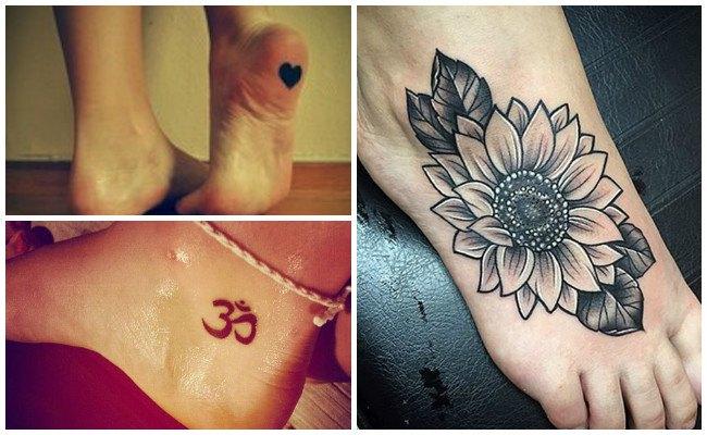 Tatuajes en el pie con rosas