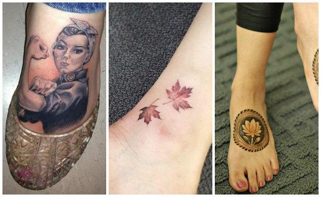 Tatuajes en el pie de serpientes