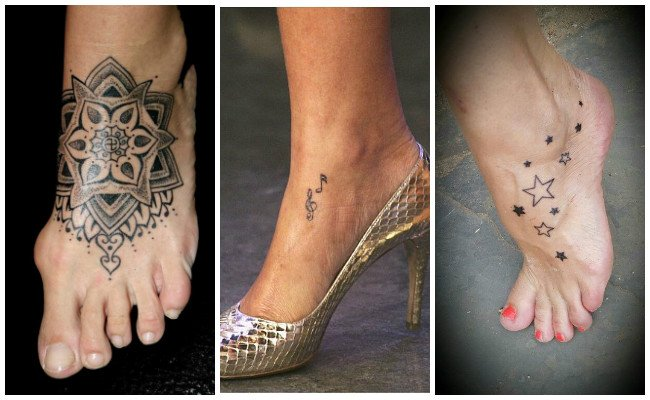 Tatuajes en el pie y tobillo