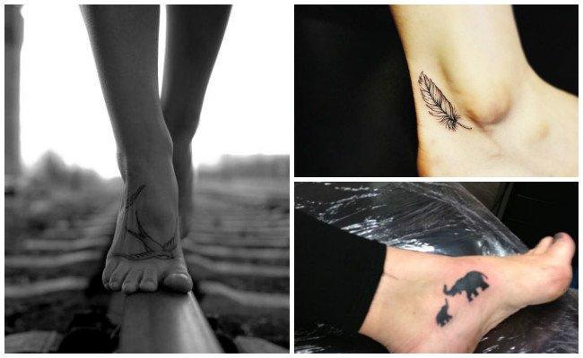 Tatuajes en el tobillo con alas
