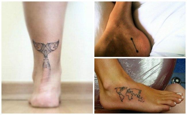Tatuajes en el tobillo con enredaderas