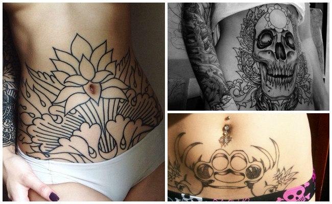 Tatuajes en el vientre de las mujeres