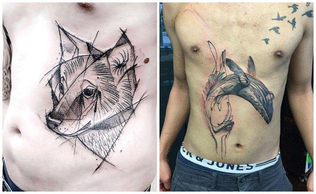 Tatuajes en la cadera del hombre