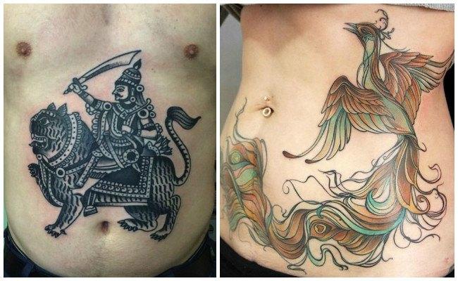 Tatuajes en la cadera y pierna